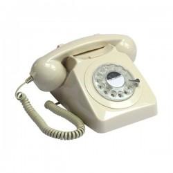 Teléfono Retro Rotary Crema