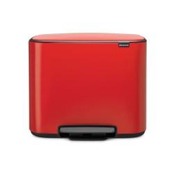 Bo Cubo Basura Pedal Rojo 3x11L