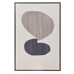 Cuadro Abstracto Blanco-Negro