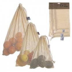 Set 3 Bolsas Reutilizables Eco-Friendly