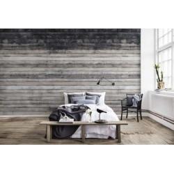 Mural Worn Wood