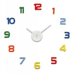 Reloj Adhesivo Multicolor
